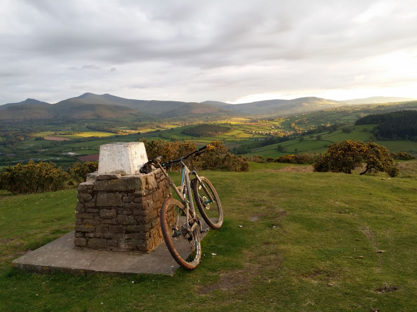Day 6 - Pen y Crug at sunset looking toward Brecon Beacons