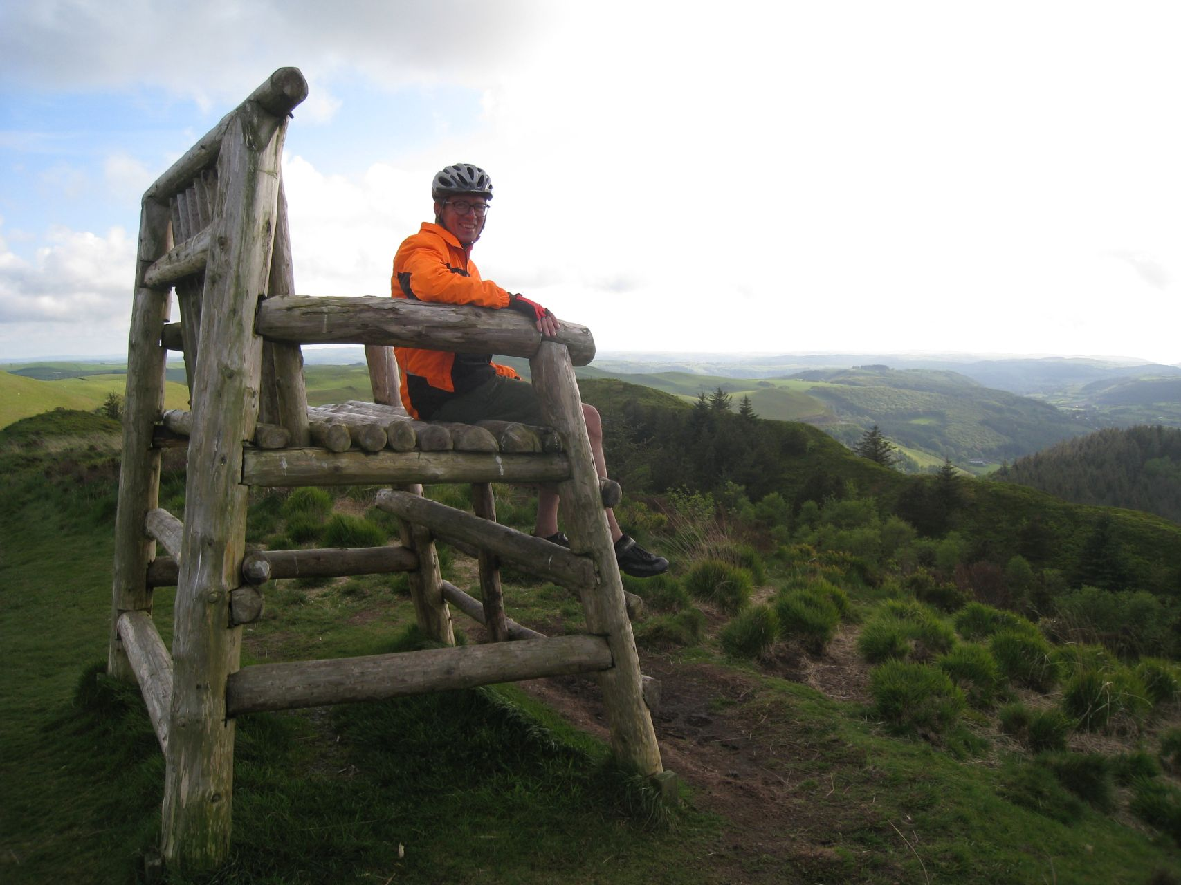 Day 4 - Paul sitting in the big chair at top of Nantyrarian © Paul Bonwick
