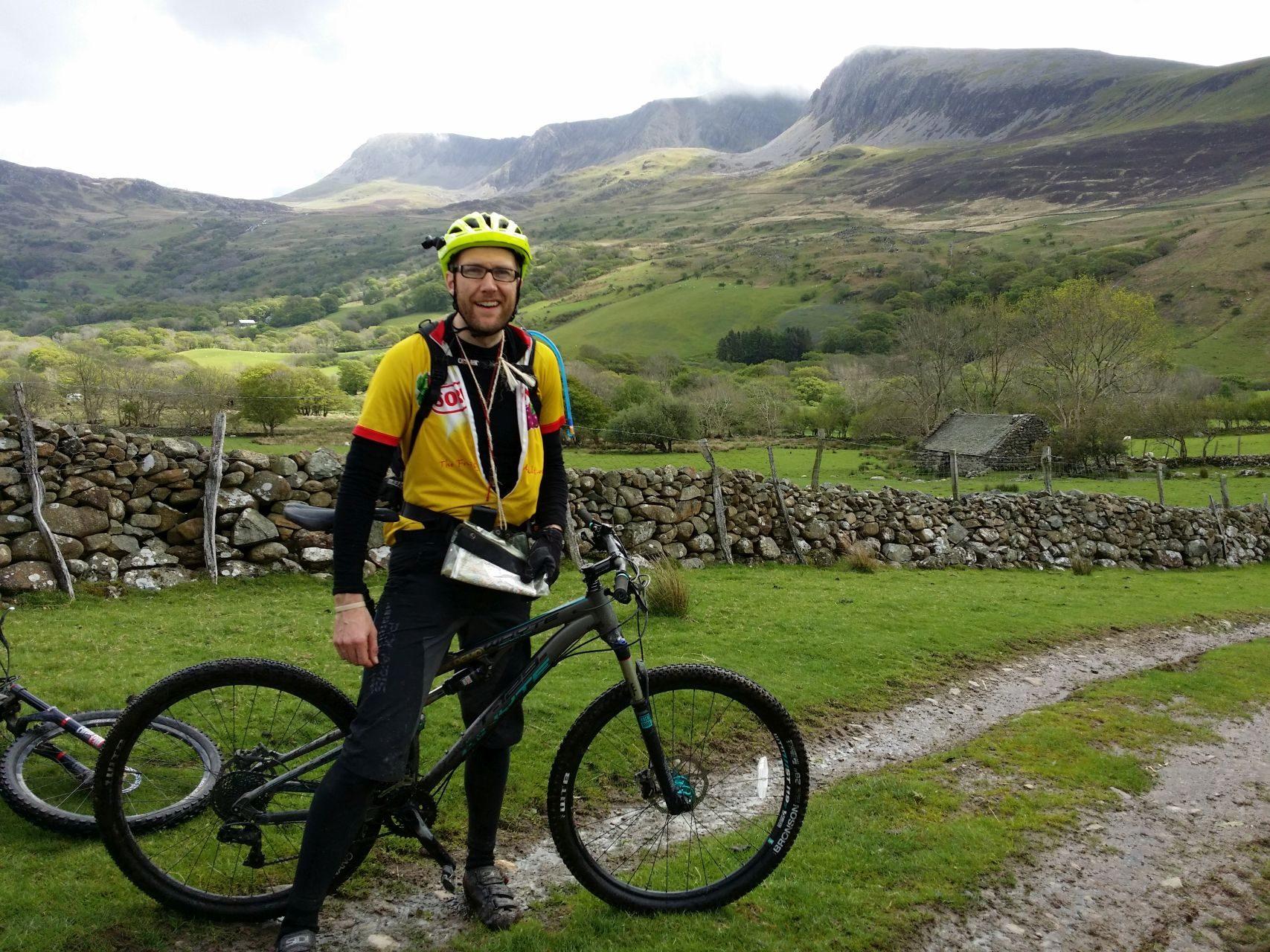 Day 3 - Jon below Cadair Idris massif