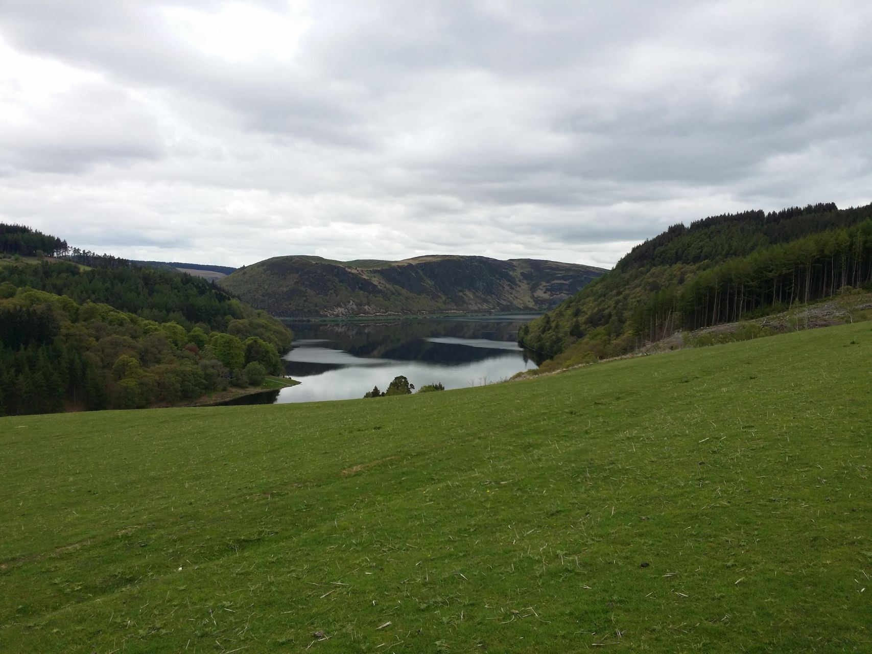 Day 6 - Open riding along grass and rocky sections above Caban-coch Reservoir