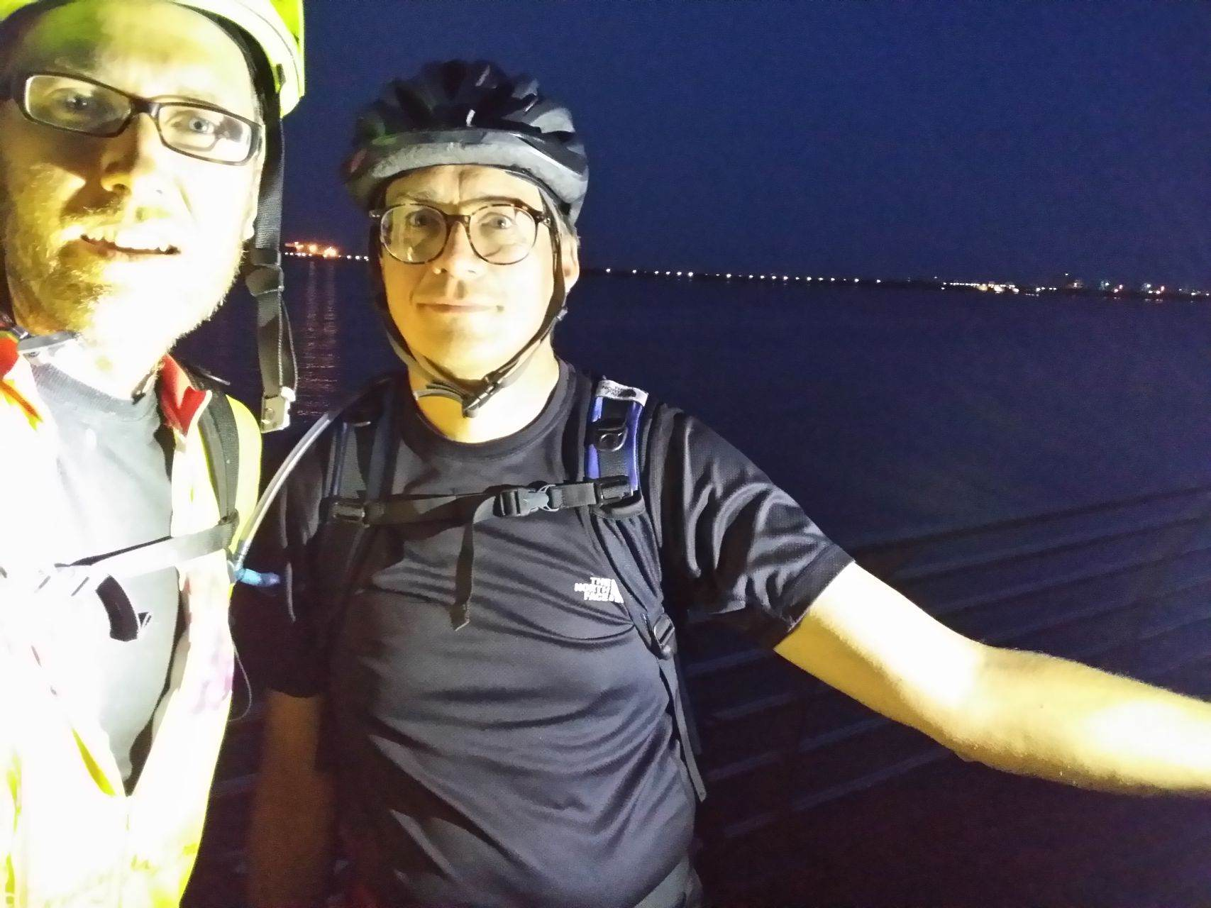 Day 7 - Cardiff Bay and the sea ... the end! In the dark! © Paul Bonwick