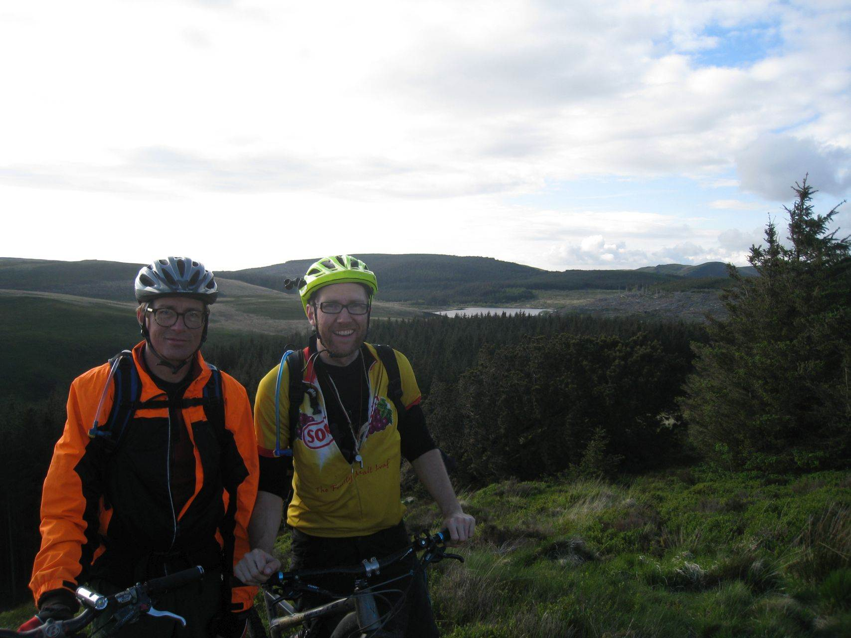 Day 4 - Jon and Paul late in the day at Bwlch Nant yr Arian trail centre © Paul Bonwick