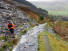 """Day 2 - Paul on """"path"""" out of Cwm Penmachno toward the Manod Mawr quarries"""