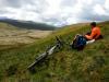 Day 4 - Paul looking across to Afon Hengwm valley before marsh trudge