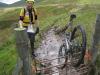 Day 4 - Jon bike-stile-climb fail on during Afon Hengwm valley marsh trudge © Paul Bonwick