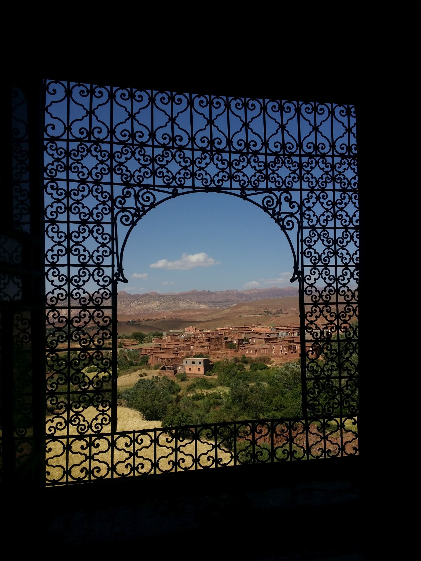 Transfer Day B - The view from Kasbah Telouet. Stop off during unscheduled taxi transfer from Anguelz to Aghbalou.