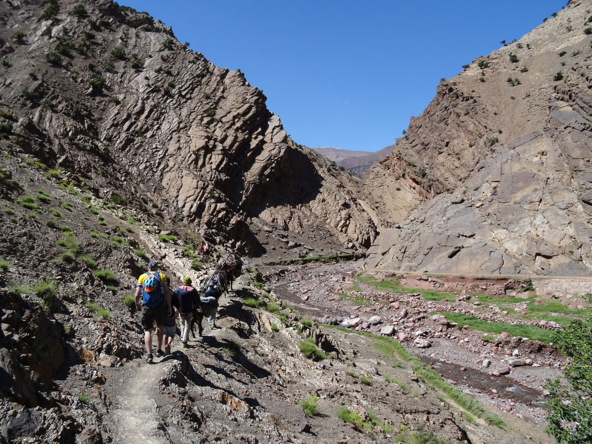 Day 4 - Like the Earth has been riven in two ... The lower part of the climb over the Tizi-n-Rughuelt pass.  © Steve Woodward