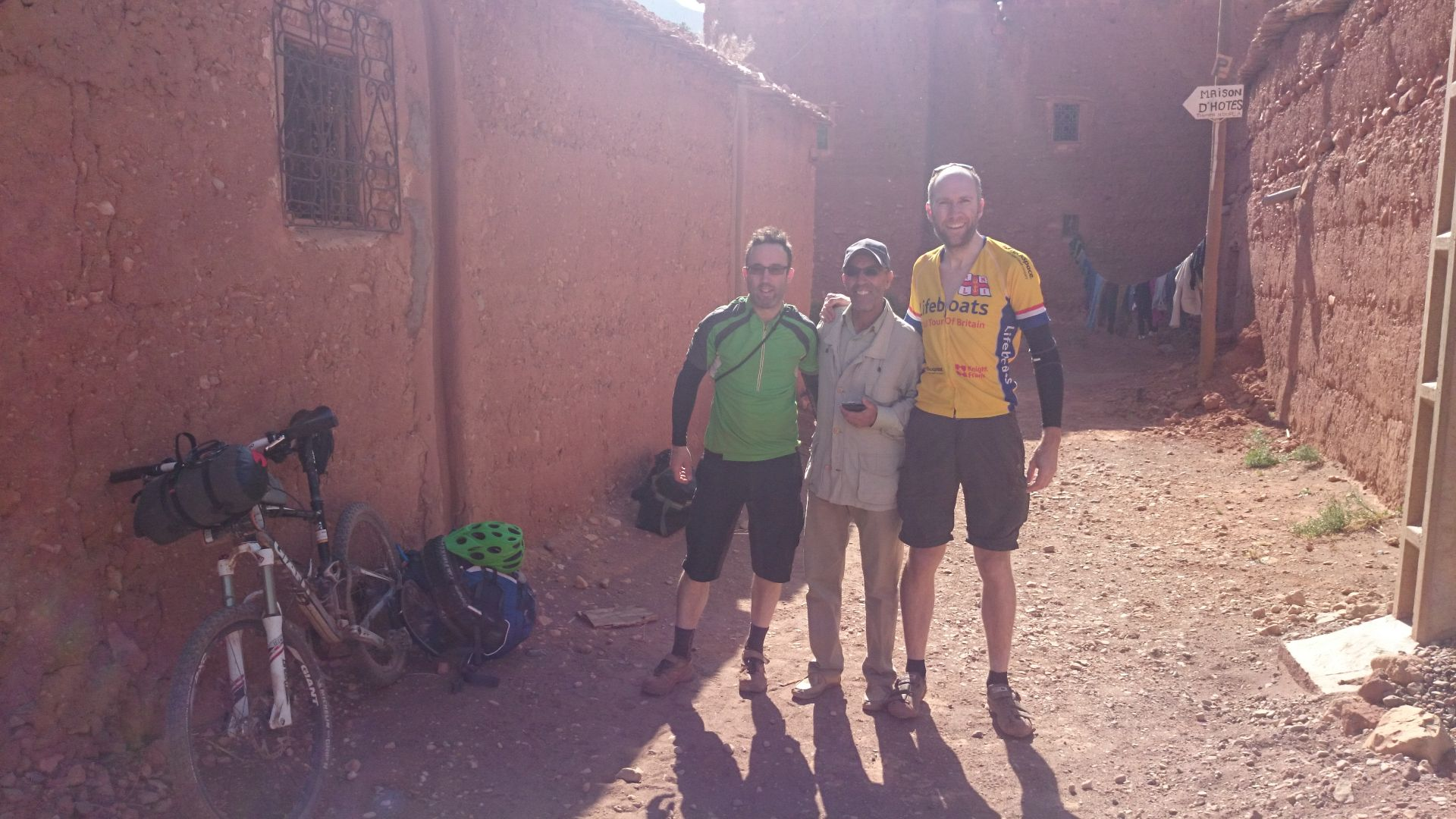 Transfer Day B - Thank you so much for your wonderful hospitality, Hussein. Our host at Kasbah Tigmi-n-Oufella, Anguelz