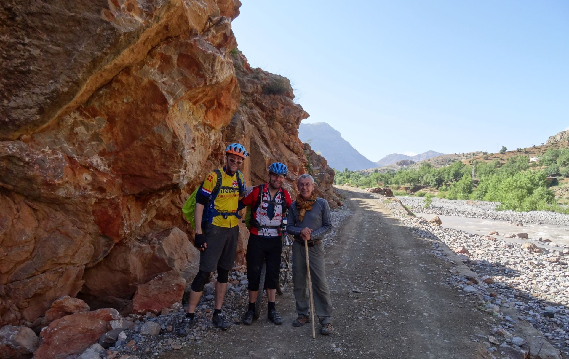 Day 2 - With our amiable host from last night, José. Setting off from Anergui. © Steve Woodward
