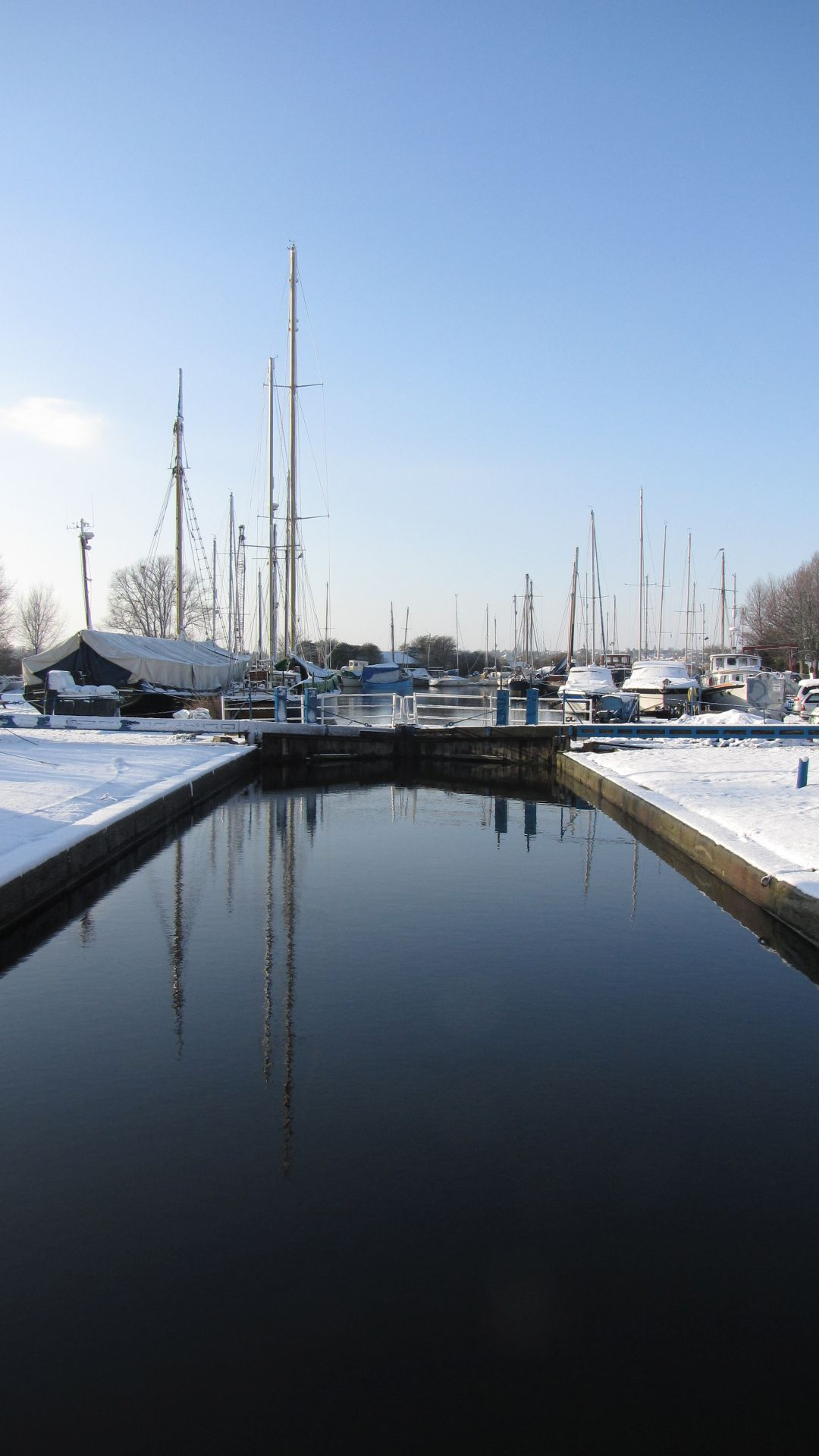 Heybridge Basin, Essex, UK - the locks at the 'Chelmer & Blackwter Navigation' (canal)
