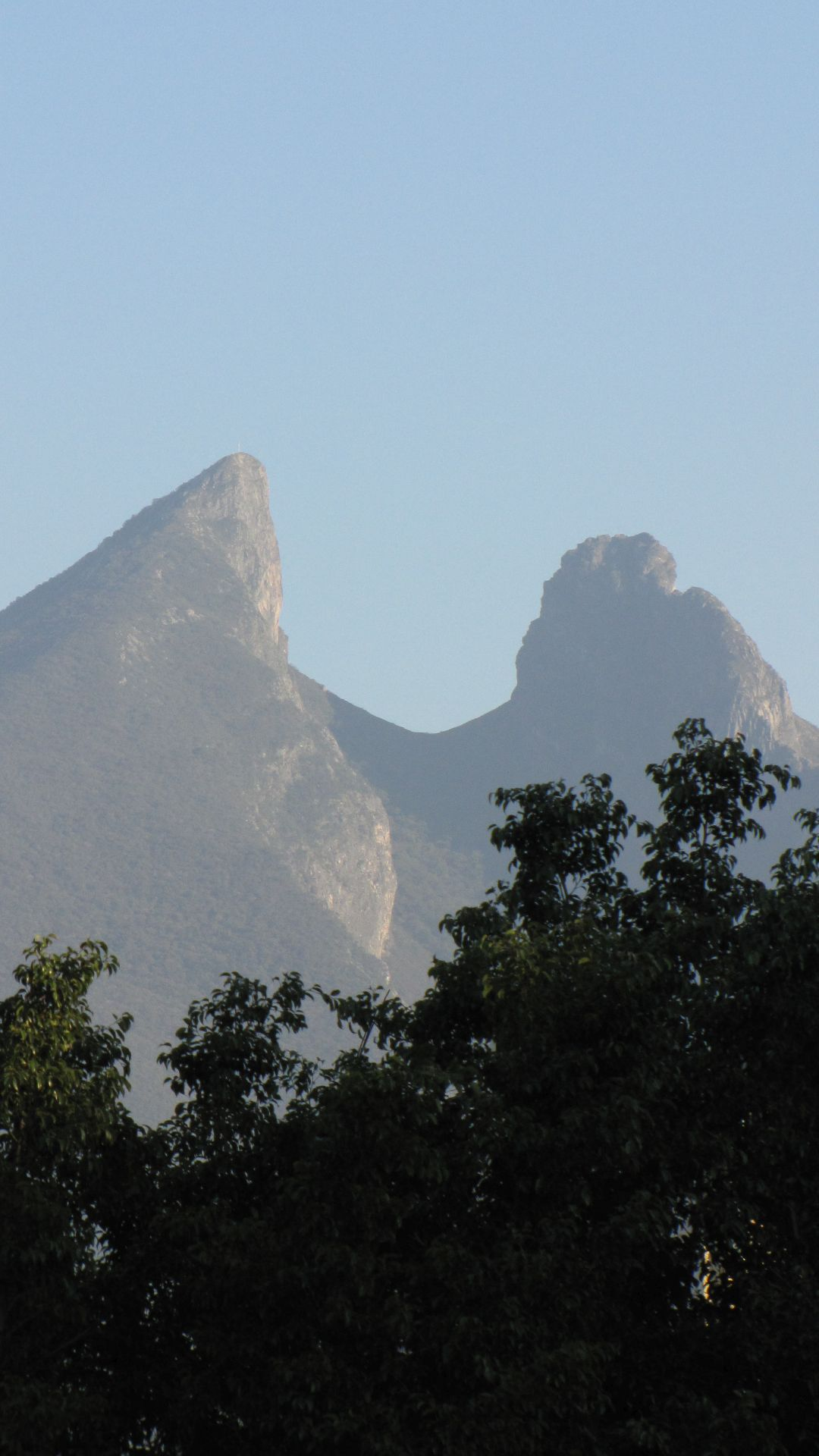 Monterrey, NL, Mexico - ... the saddleback mountain just outside town