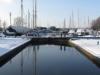 Heybridge Basin, Essex, UK - the locks at the 'Chelmer & Blackwter Navigation' (canal)
