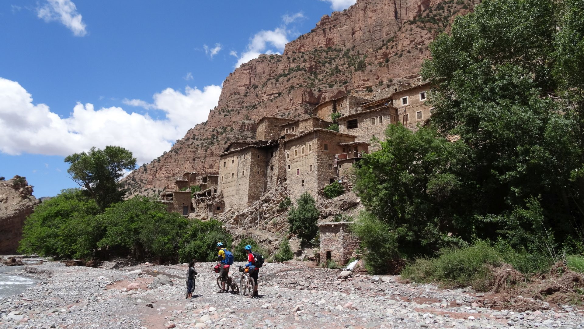 """The remote Tassaout valley, only reachable on foot (or by bike!), at the ancient village of Fakhour. Taken on """"Day 2"""" of our 2-week, unsupported traverse of the High Atlas in 2015 . © Steve Woodward"""
