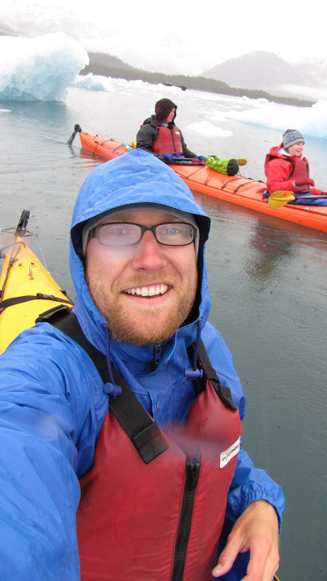 Valdez - Columbia Glacier Kayaking, cold, wet but there are ICEBERGS!