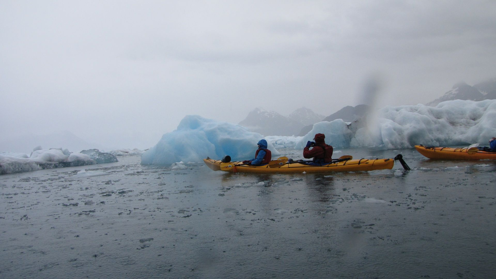Valdez - Columbia Glacier Kayaking, still raining