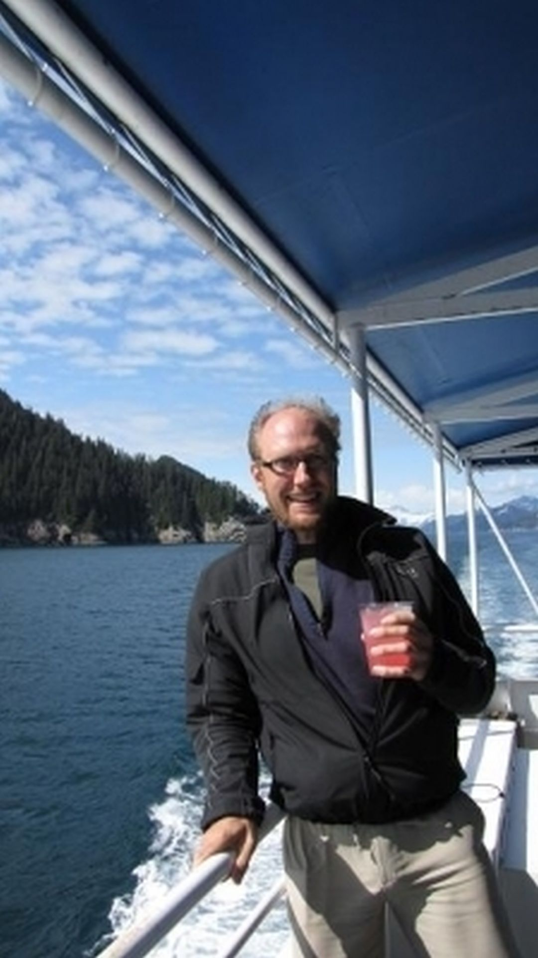 Seward Glacier Cruise - my very own 'gin palace'
