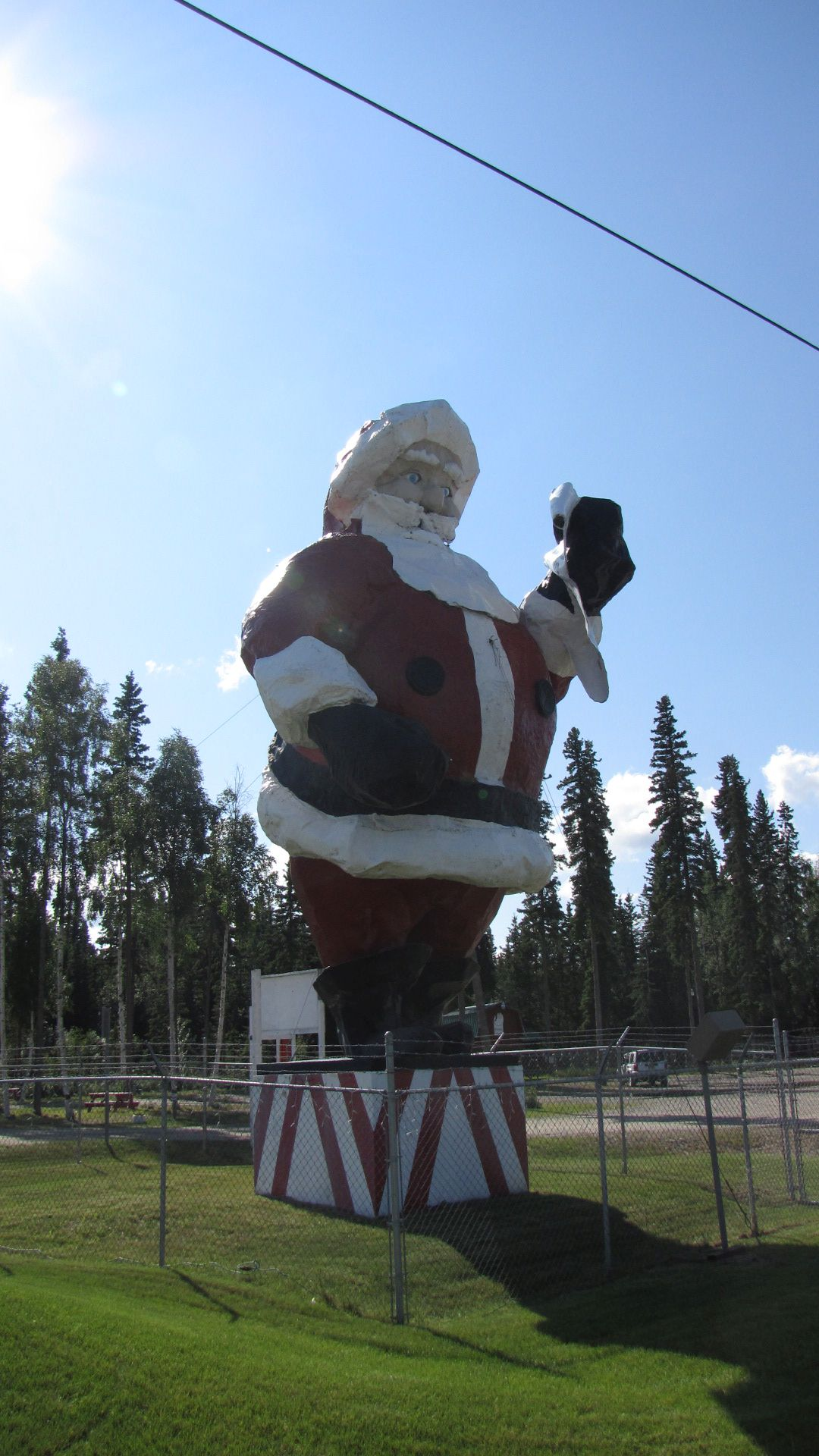 'North Pole' nr Fairbanks - world's biggest Santa (soon to appear in 'Santa versus MechaGodzilla'