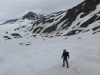Harding Ice Field nr Seward - man attempts world's highest 'catalogue pose', once perfected 'Jockey Y-Fronts' ready to model