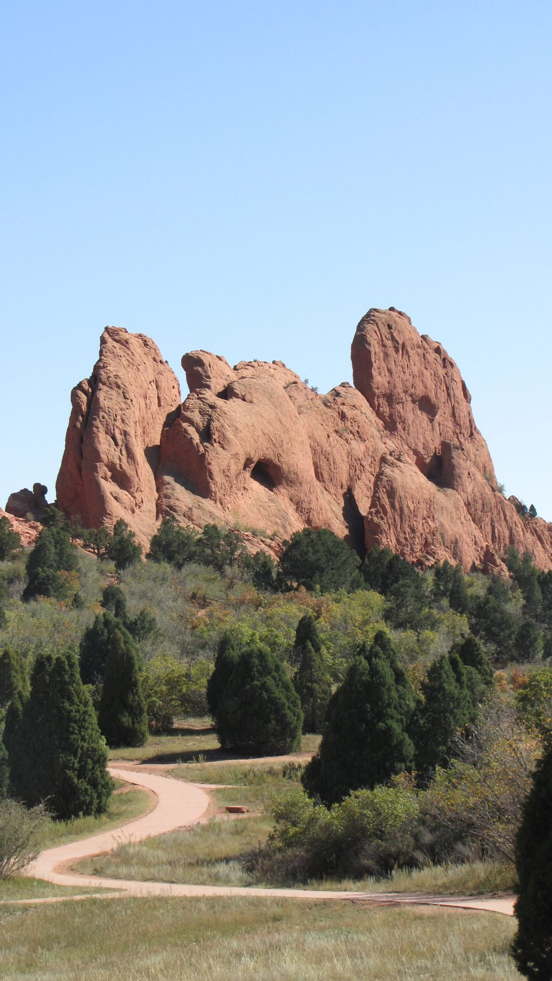 Garden of the Gods, nr CO Springs, CO, USA - Nice wiggle, path