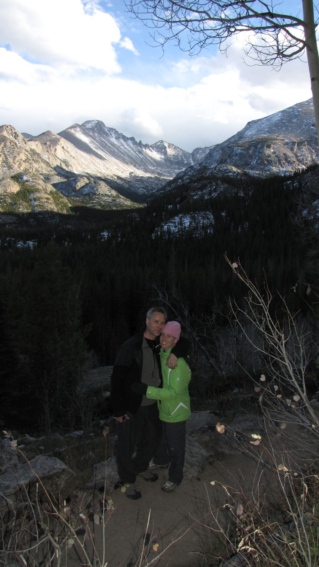 Nr Bear Lake, Rocky Mtn Nat Pk, CO, USA - Yes, flash used to get both halves of pic lit!