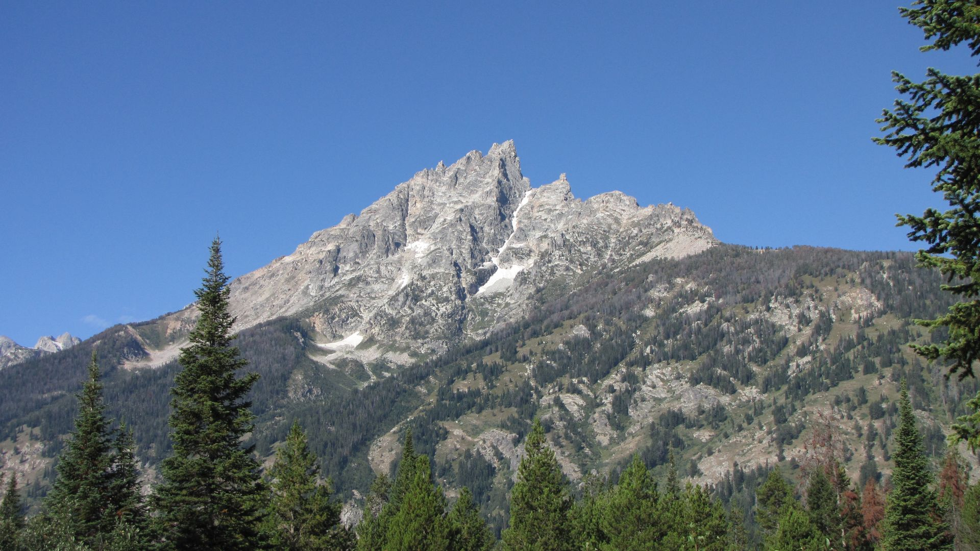 Grand Teton Nat Pk, WY, USA - Grand Teton peak
