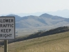 Three Forks, MT, USA - I am keeping right, I am!