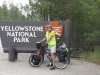 Yellowstone Nat Pk, WY, USA - Park-pass? Check!  Bicycle?  Check!  Luggage?  Check!  Rider ready to cross Continental Divide 3 times in next 100 miles?  Errrr, errrr