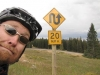 Snowy Mt Pass, WY, USA - What loon came up with this sign?!  Its great tho and apart from the 2nd hairpin & a later cattle grid I didn\'t brake for 10 MILES!