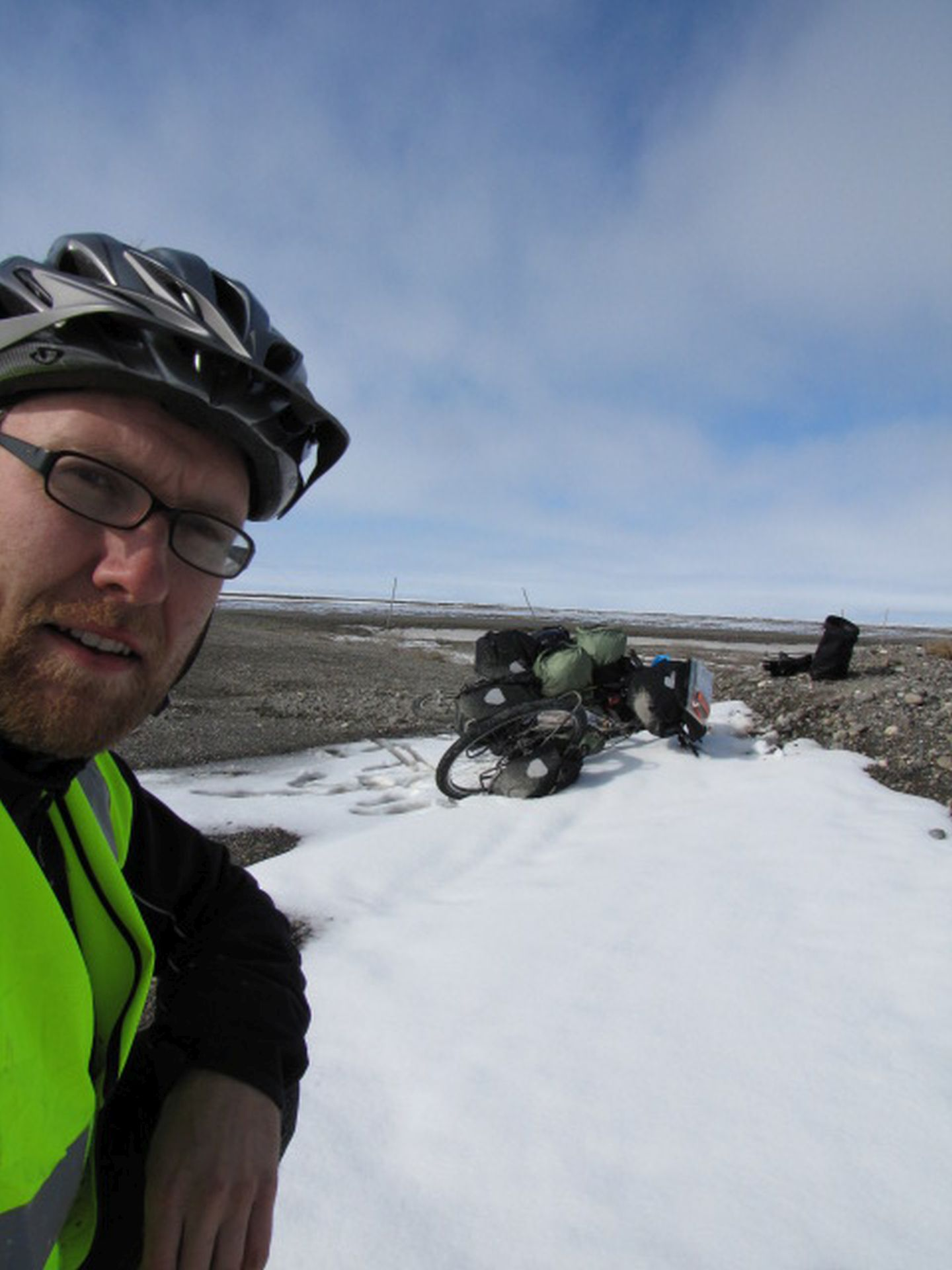 Bike parking, Arctic-style - Who says I can\'t park that there?