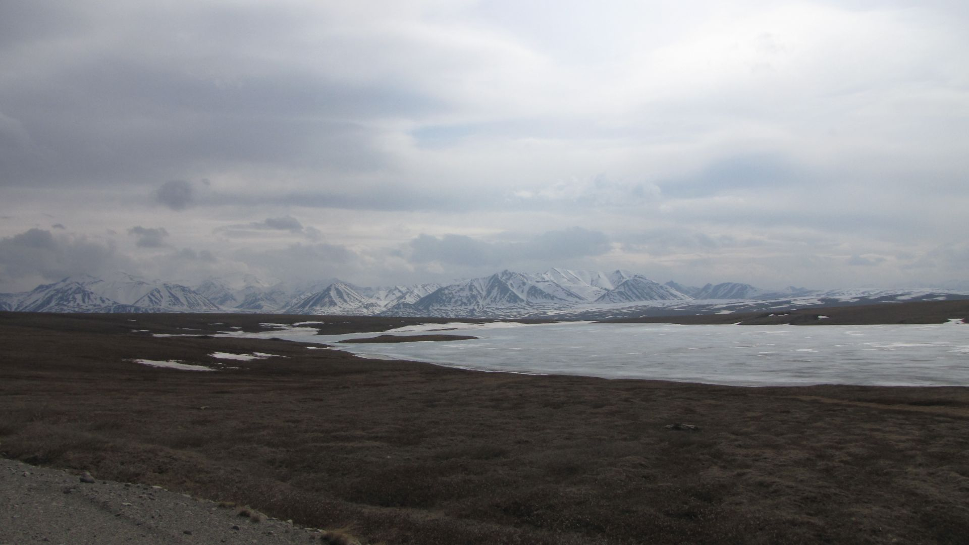 Lake at Toolik - no boating - UAF research camp nearby - thanks for the lovely breakfast guys!