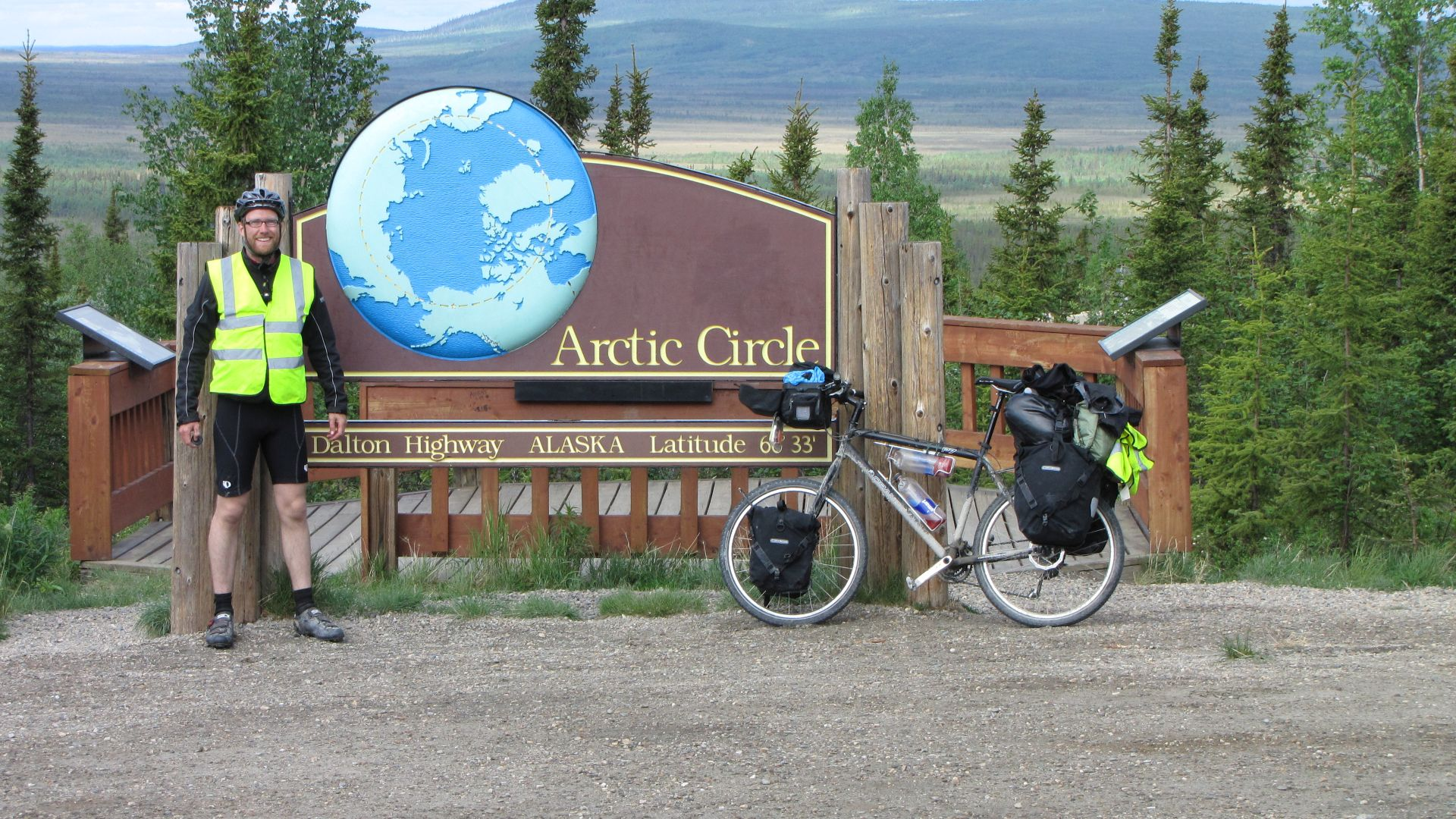 Arctic Circle - took 9 days to get here FROM THE NORTH!