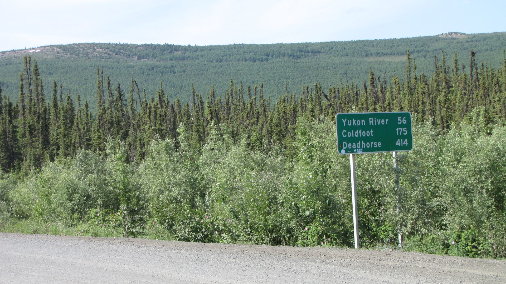 The last mile of the Dalton Highway - I was actually really sad to see the end of it, really!