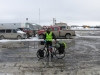 Prudhoe Bay, hotel car park, packed, ready...? - OMG that bike weighs A TON!