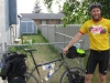 "Fairbanks, at John`s, the end of this ""part"" - 73 mile day, 10 miles around Fairbanks"" bike tracks! :)"