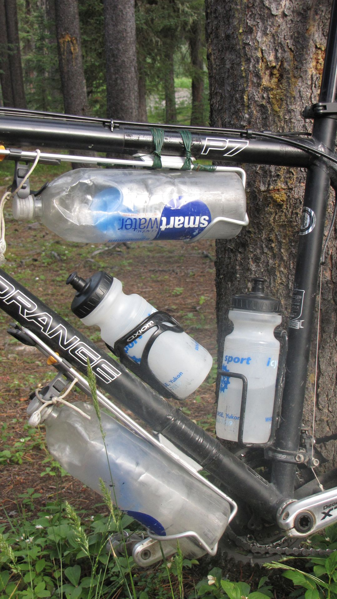 1st place in the \'how many water bottles can we attach to the frame\' contest
