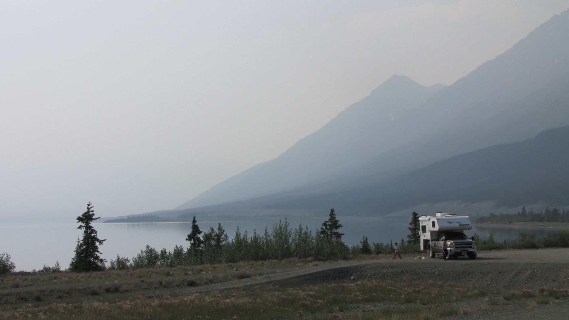 Kluane Lake, YT, Canada - RV, biker & cyclists heaven