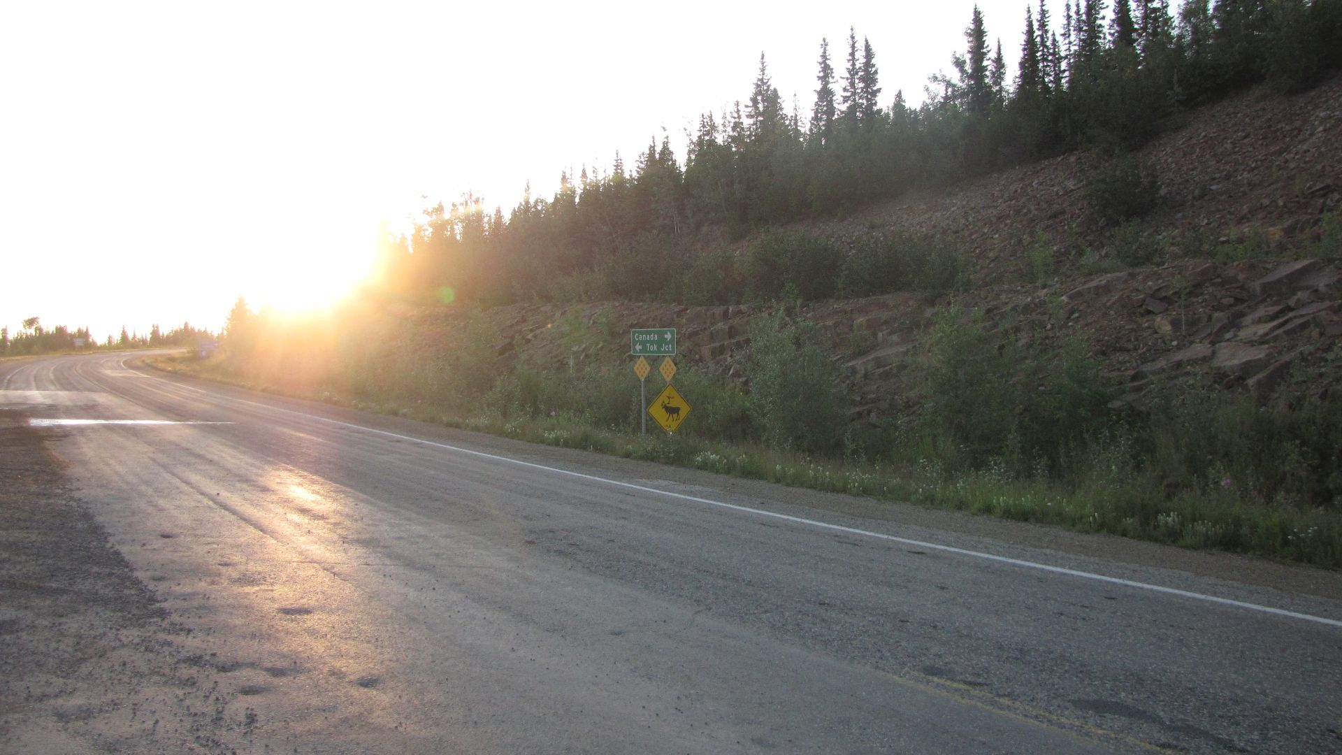 Northway Junction, AK, US - make sure you turn the right way when you get up in the morning!