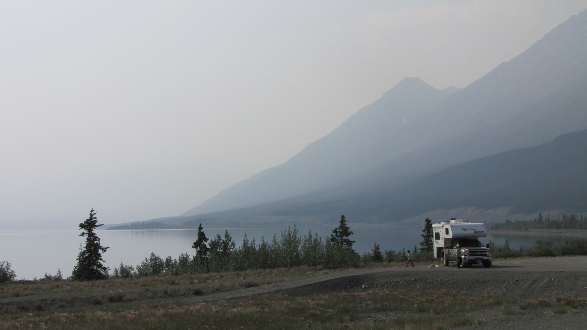 Kluane Lake, YT, Canada - RV, biker & cyclists heaven