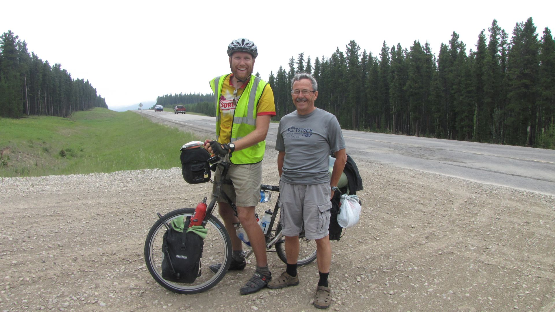 Nr Grand Cache, Alberta, Canada - Rick says hello!  Thanks for the chat & the food guys