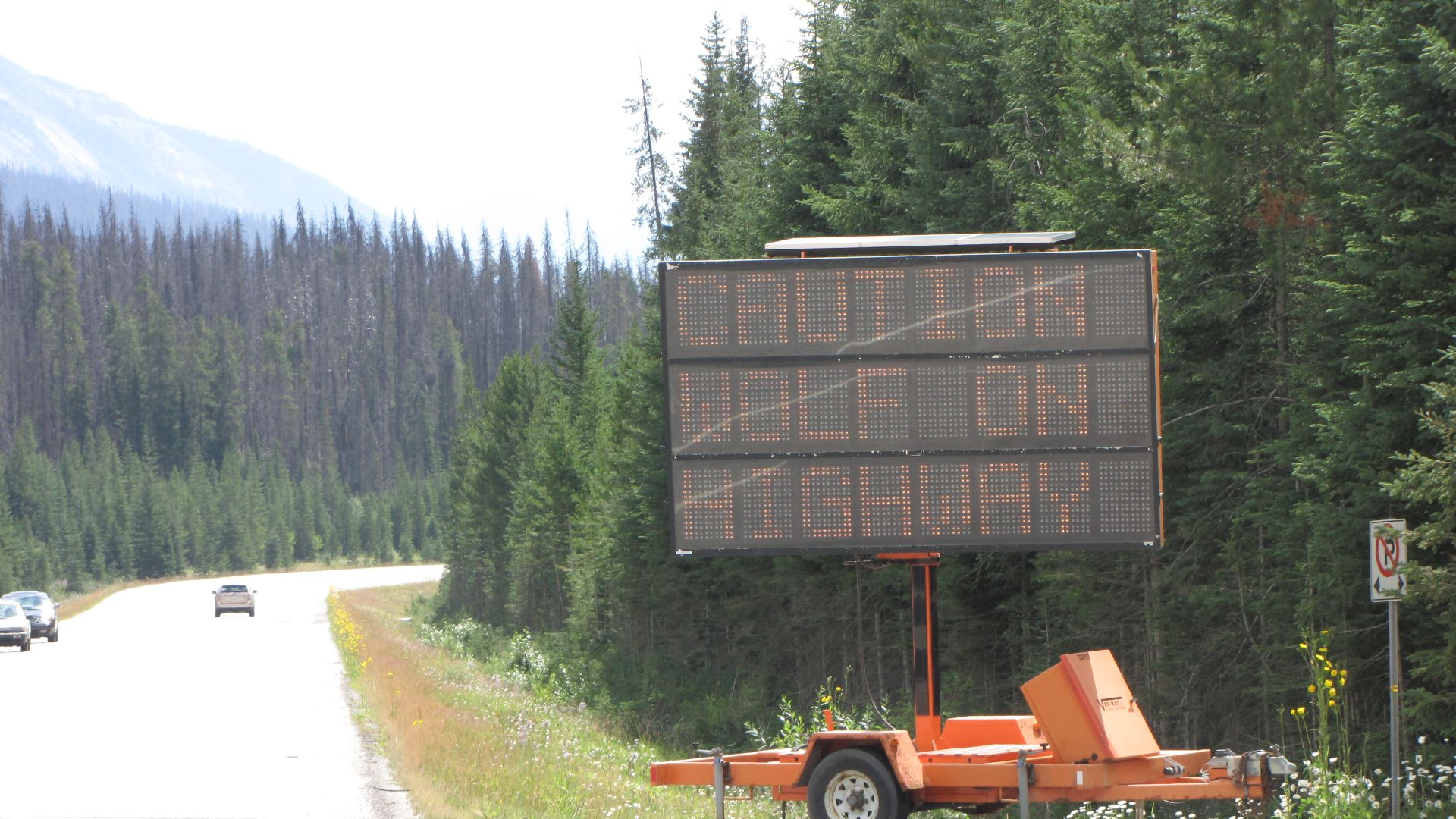 Kootenay Nat Pk, BC, Canada - Just in case you can\'t read it, it says