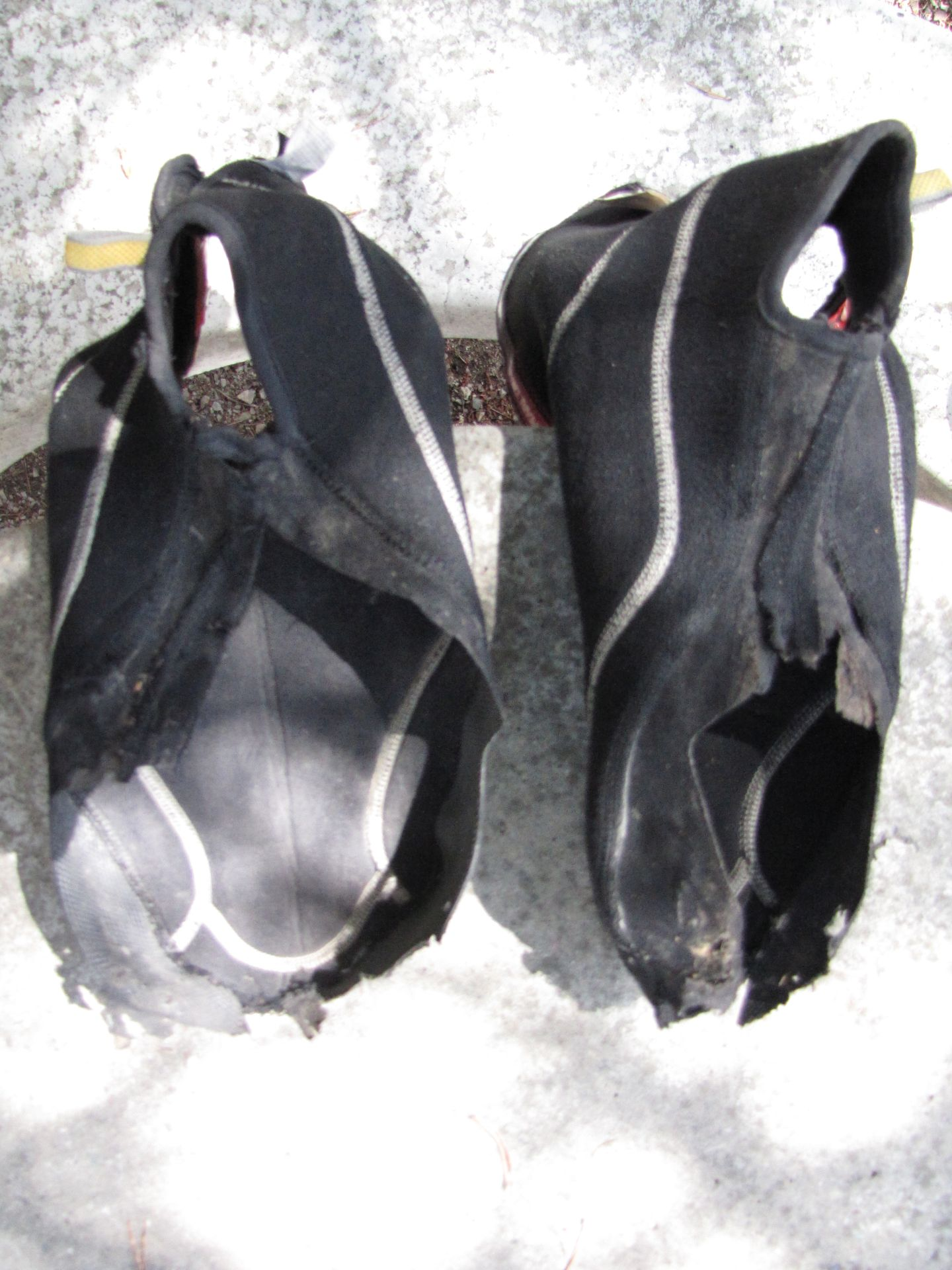 Neoprene Overshoes last used in Northern Alaska - these babies have had it!  New ones purchsed soon after