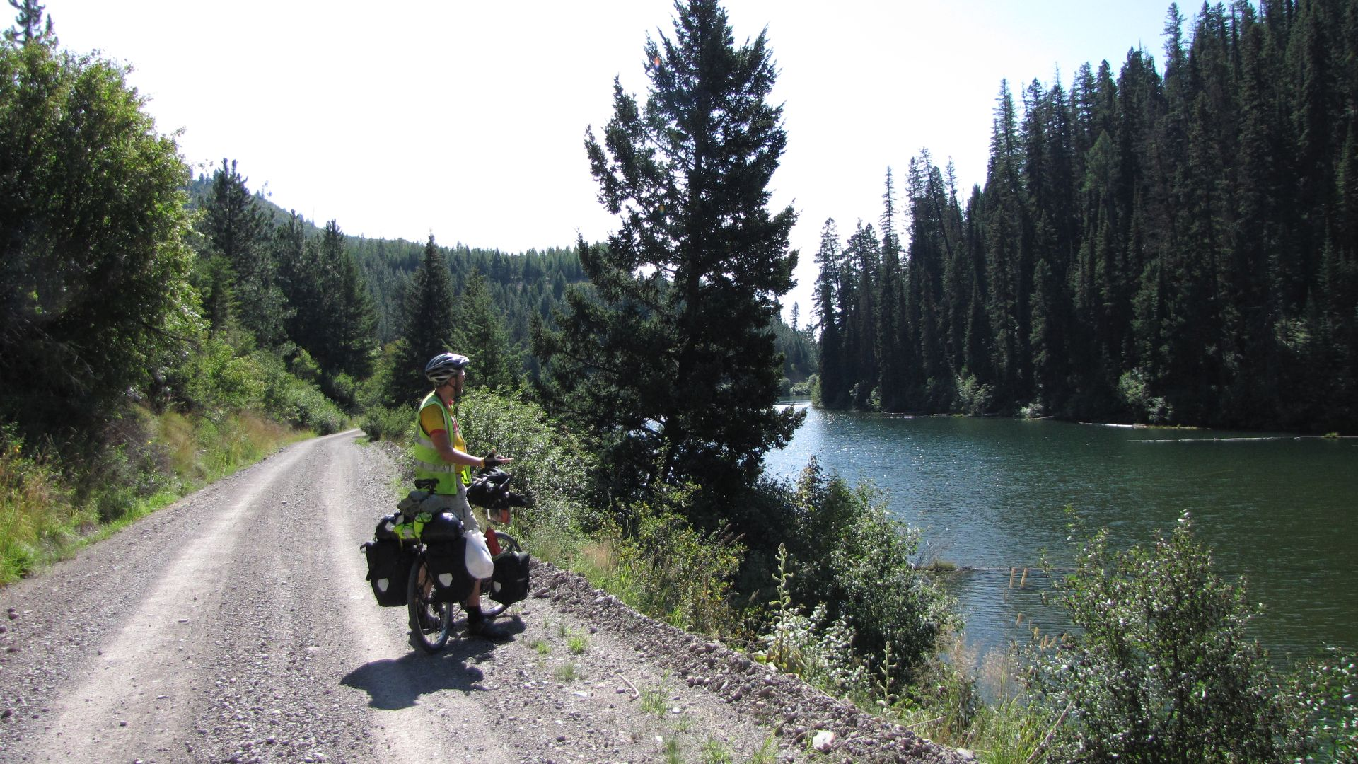 Nr Seely Lake, Montana, USA - a lovely day riding off-road (dirt tracks) along Continental Divide Trail with Nancy & Matthew - thanks guys, see you soon hopefully :)