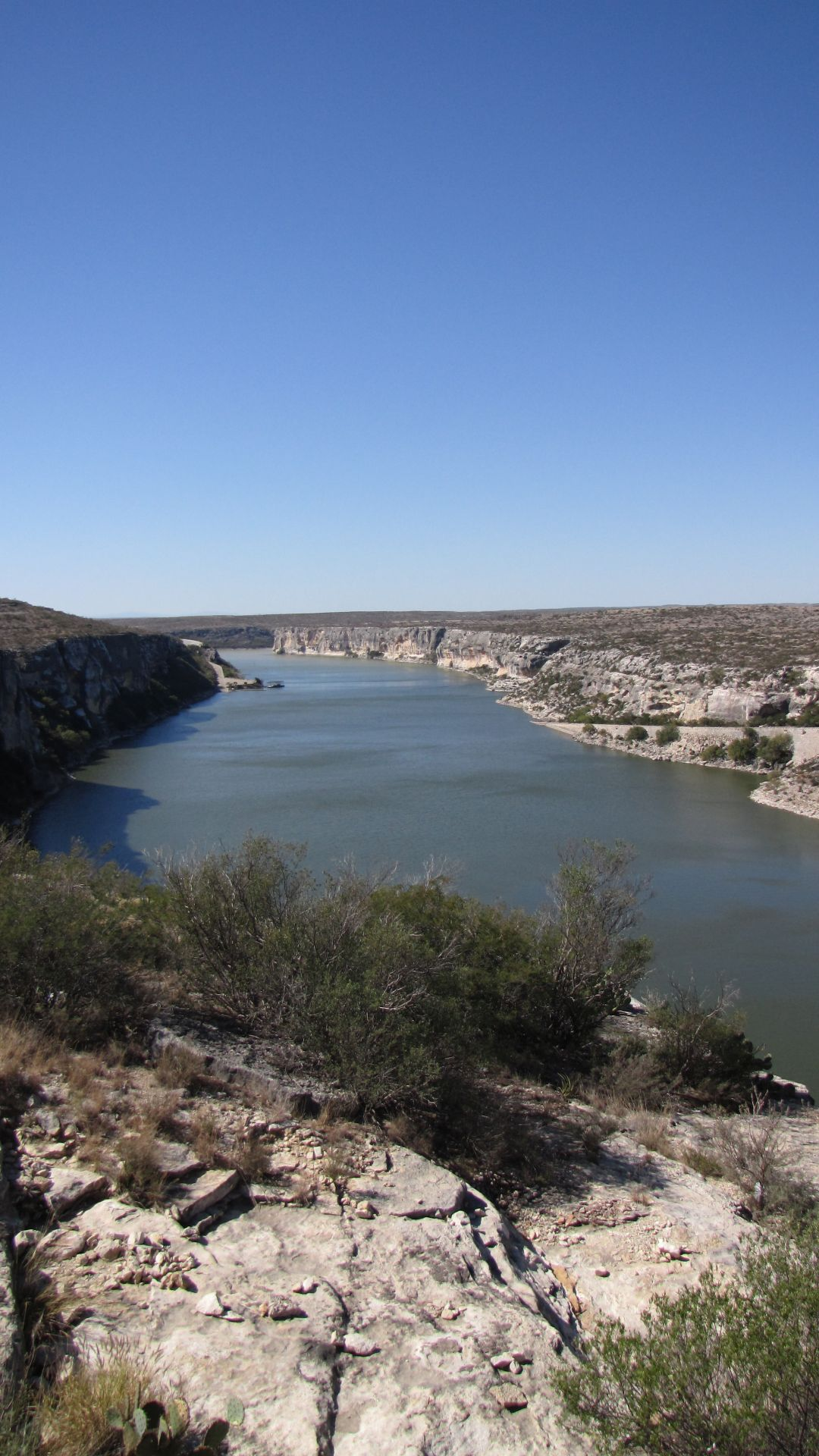Nr Langtry, TX, USA - the Pecos River close to its joining the Rio Grande