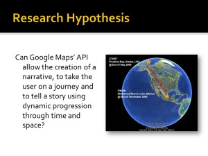MSc Dissertation 'Google Maps Journey Immersion' Initial Presentation