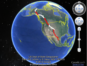 Google Earth API Simple KML Overlays Example