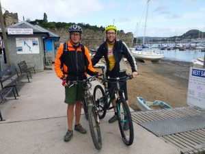 Day 1 - Paul & I in Conwy, at the start of our week long ride